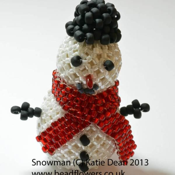 Beaded Snowman Kit, Katie Dean, Beadflowers
