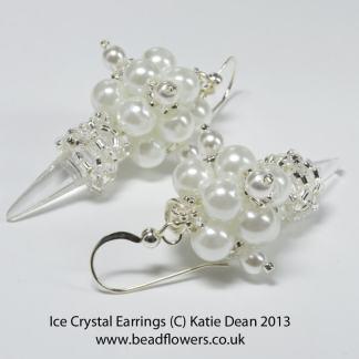 Ice Crystal Earrings Pattern, Katie Dean, Beadflowers