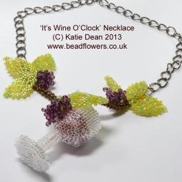 Wine o' clock Necklace Pattern and Kit, Katie Dean, Beadflowers
