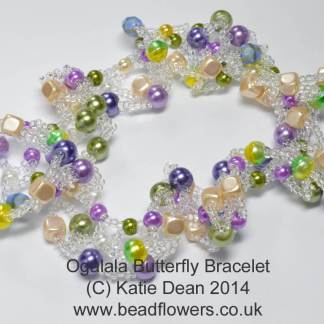 Ogalala Butterfly Bracelet Pattern by Katie Dean, Beadflowers