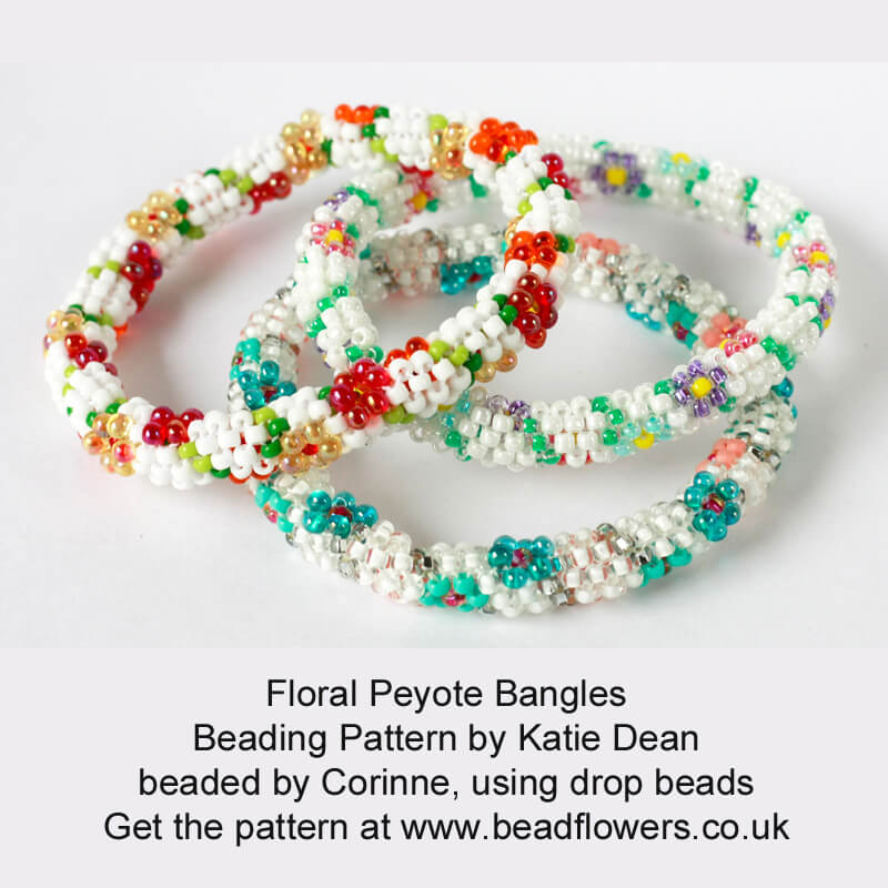 Floral Peyote Bangles