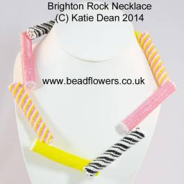 Brighton Rock Necklace Beading Pattern in Peyote stitch, by Katie Dean