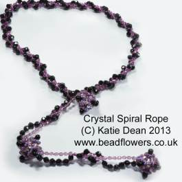Beading Trends 2017: Crystal Spiral Rope Necklace