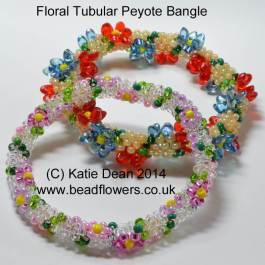 Floral Peyote Bangles Beading Pattern