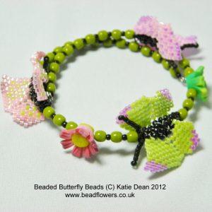 beaded butterfly