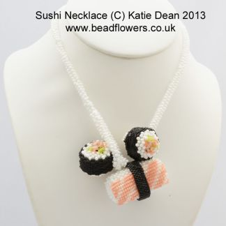 Beaded Sushi Necklace Pattern and Kit, Katie Dean, Beadflowers