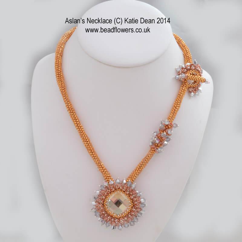 Aslan Necklace, Bead and Jewellery Magazine, Katie Dean, Beadflowers