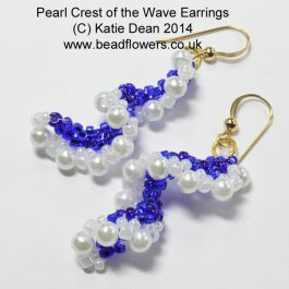 Bead Earrings Kit: Pearl Crest of the Wave