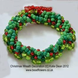 Beaded Christmas Wreath