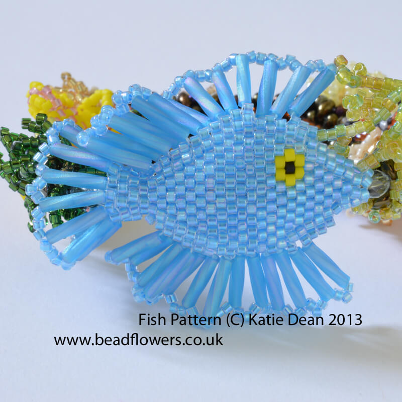 beaded fish pattern