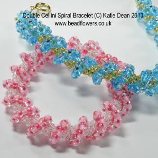 Cellini Spiral Superduo TwinHole Bracelet