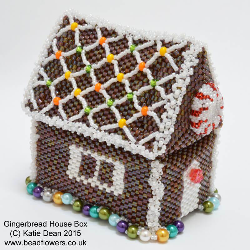 Gingerbread House Beaded Box Pattern By Katie Dean