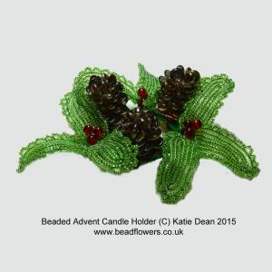 how to make a beaded Advent Candle Holder, Katie Dean, Beadflowers