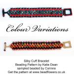 Silky bead cuff tutorial