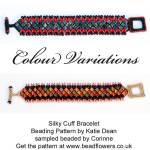 Silky bead cuff tutorial