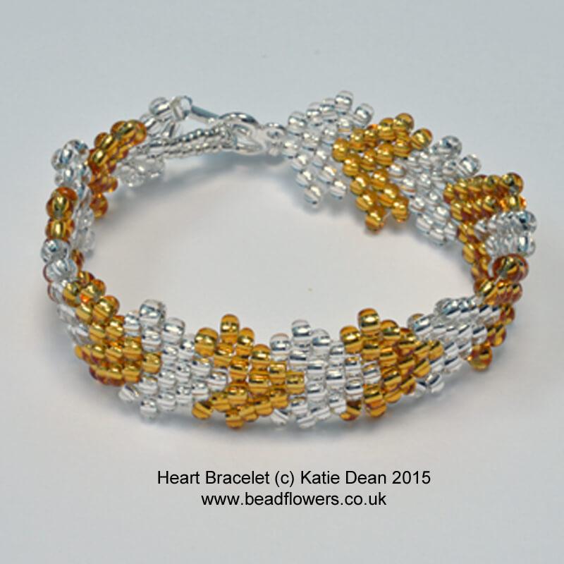 Heart Bracelet Kit, Katie Dean, Beadflowers