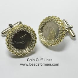 Beaded Cuff Links