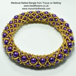 Netted Pearl Bracelet Pattern, Katie Dean, Beadflowers