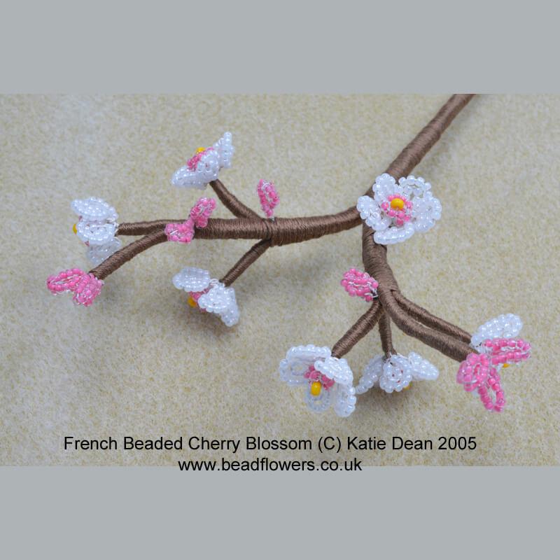 Beaded Cherry Blossom Pattern