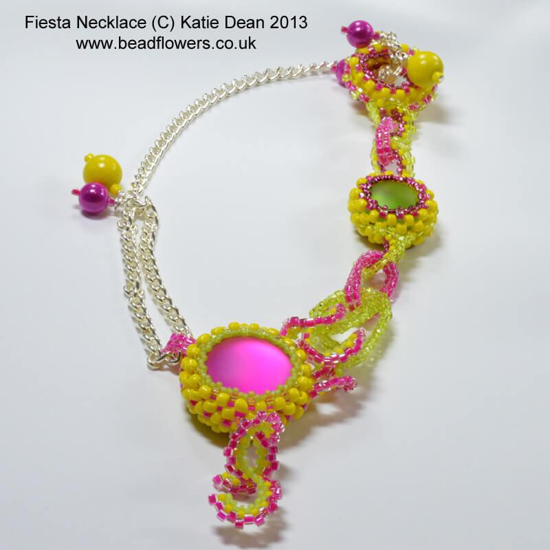 Fiesta Necklace beading pattern, Katie Dean, Beadflowers