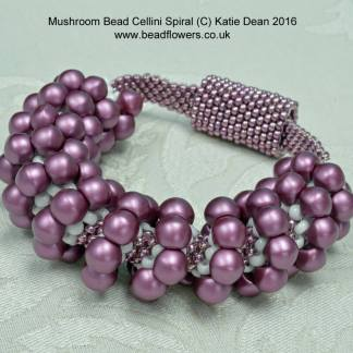 Mushroom Bead Cellini Spiral Pattern