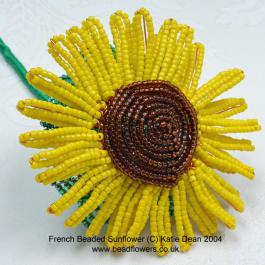 French beaded sunflower pattern