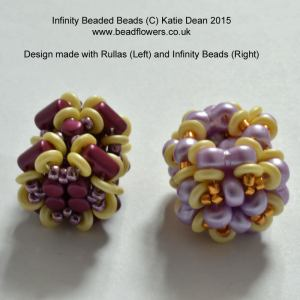 Infinity beads beads beaded bead pattern, Rulla beads beaded bead, Katie Dean, Beadflowers