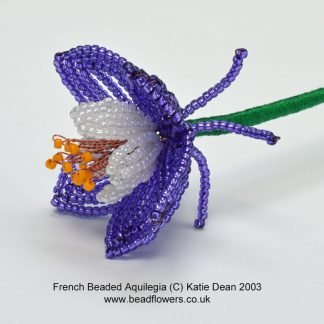 French Beaded Aquilegia Tutorial