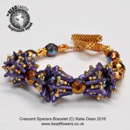 Crescent Bead Spacers Bracelet