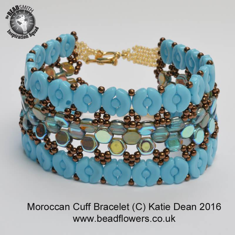 Moroccan Beaded Cuff Bracelet