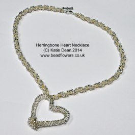 Herringbone Heart Necklace