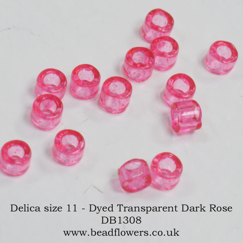 Size 11 Delica Beads, 10g Packs, Katie Dean, Beadflowers, UK