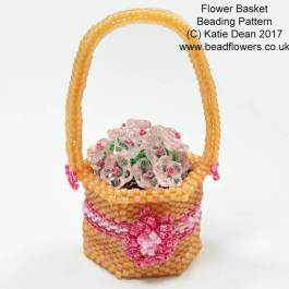 Beaded Flower Basket Spring Beading