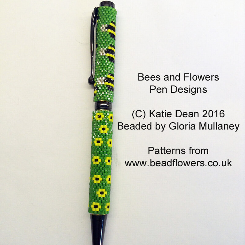 Floral Pen Pattern Bee Pen Pattern