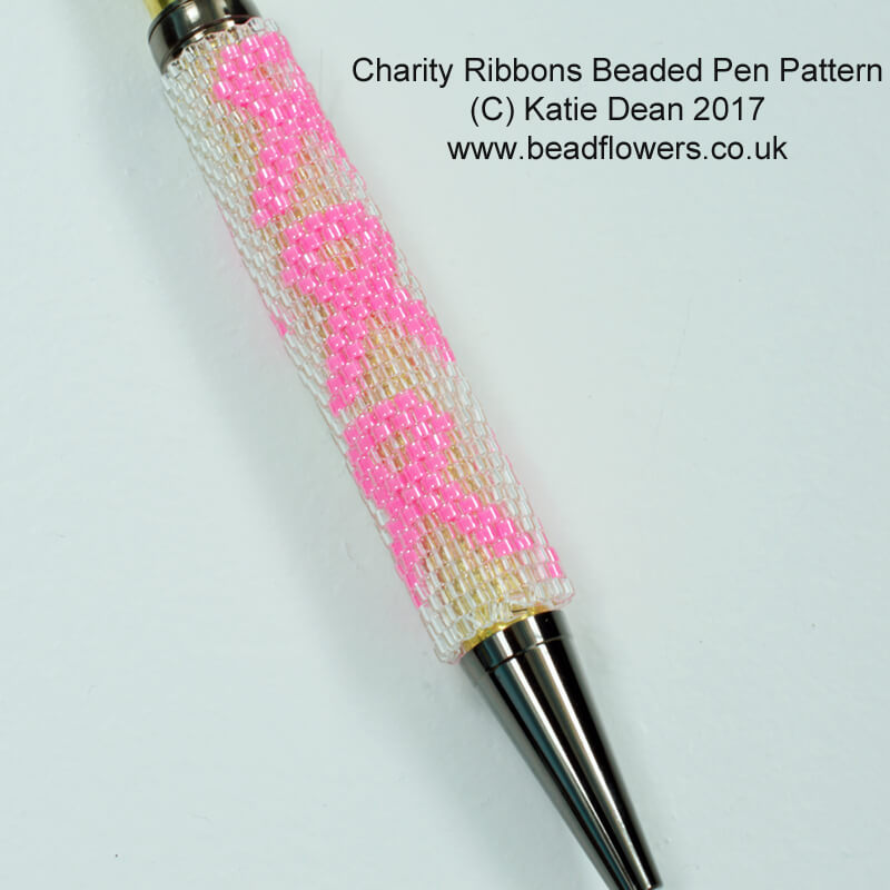 Beaded Awareness Ribbon Pattern for Pens