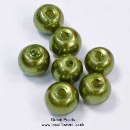 4mm pearls in green