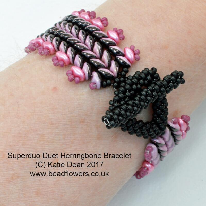 Superduo Herringbone Bracelet Kit or Pattern