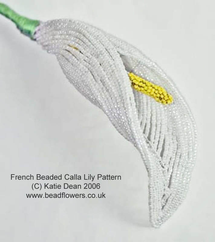 French Beaded Calla Lily pattern