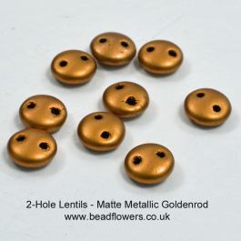 Two Hole Lentil Beads