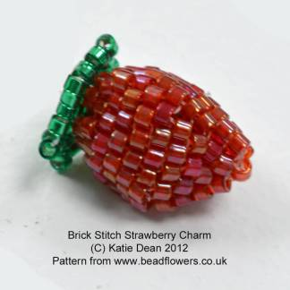 Beaded strawberry pattern