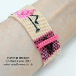Flamingo Bead Pattern Bracelet