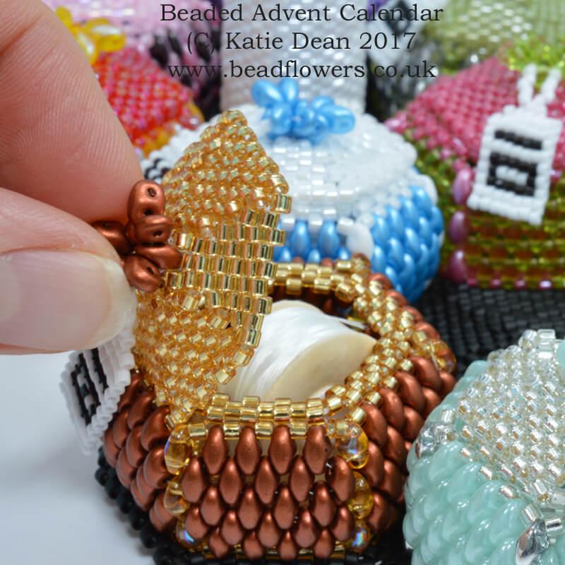 Beaded Advent Calendar Pattern by Katie Dean, Beadflowers