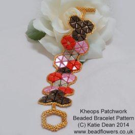 Beaded Bracelet Pattern: Stunning Kheops Par Puca Patchwork Bracelet by Katie Dean