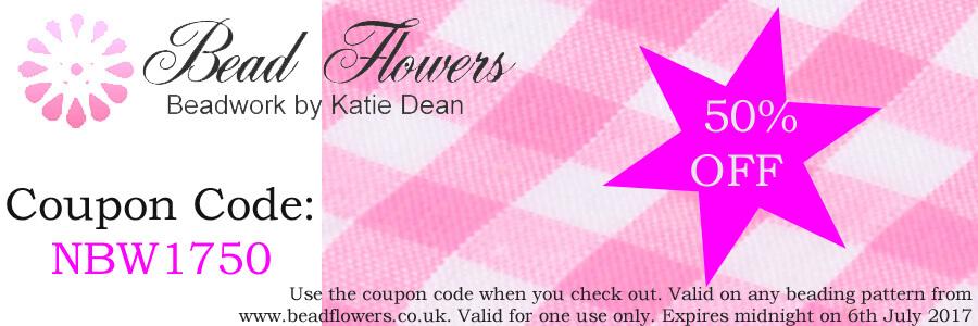 National Beading Week Beadalong Days 8 and 9, Katie Dean, Beadflowers