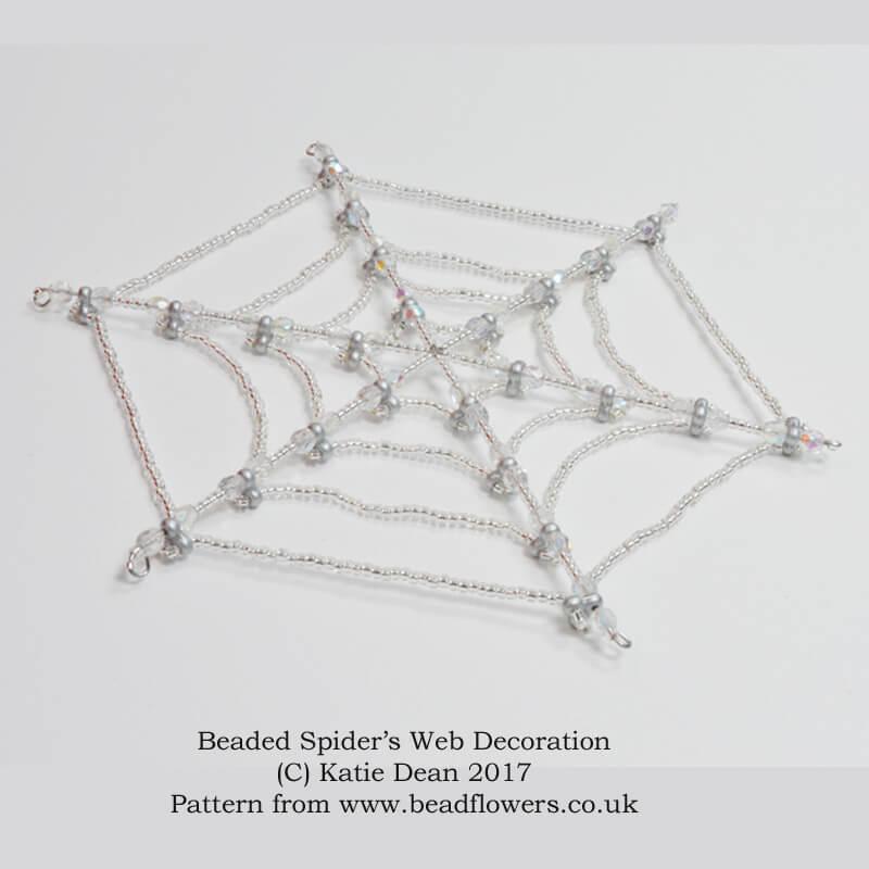Beaded Bat Pattern for a 3D decoration ~ Katie Dean
