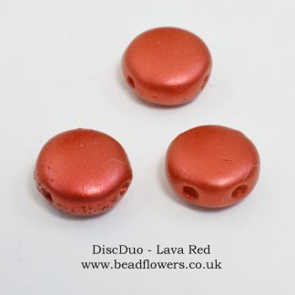 DiscDuo beads, packs of 50, sold in UK by Katie Dean, Beadflowers
