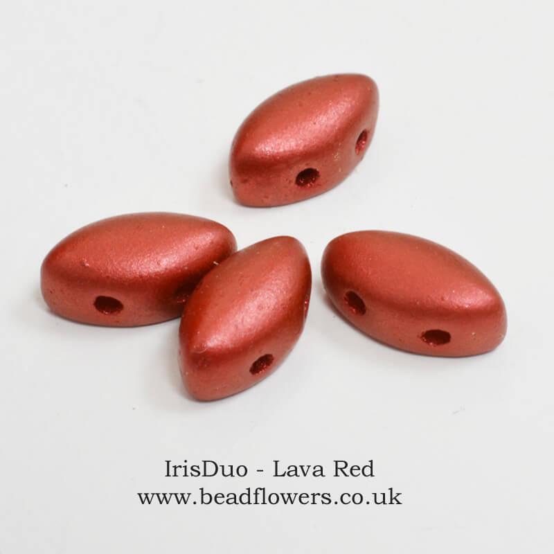 IrisDuo Beads, 9g or 56 beads, Katie Dean, Beadflowers