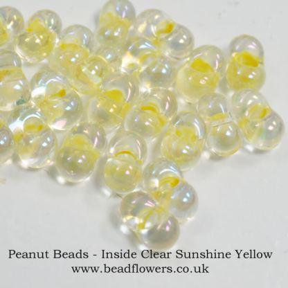 Peanut beads, 10g packs, Katie Dean, Beadflowers, UK
