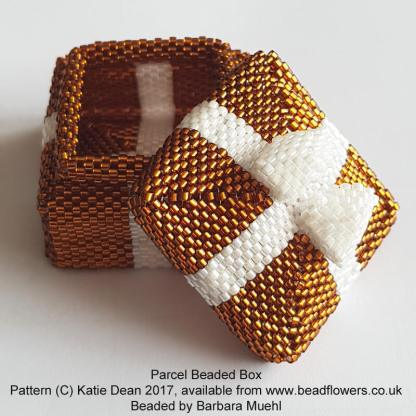 Parcel Beaded Box Pattern, Katie Dean, Beadflowers