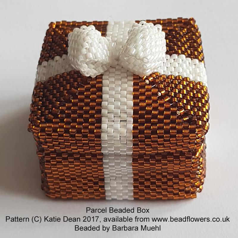 Parcel Beaded Box Pattern, Katie Dean, Beadflowers